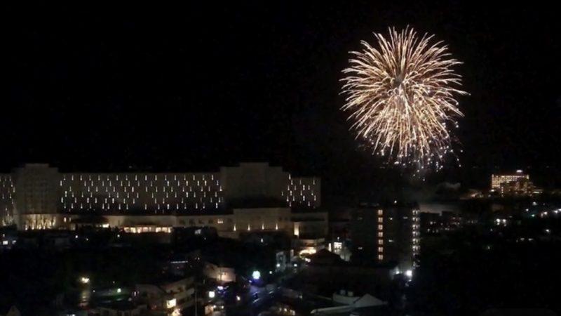 2020年8月11日 シェラトン沖縄サンマリーナリゾート 打ち上げ花火