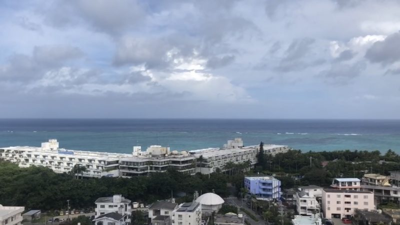 2020年8月10日 台風5号通過 沖縄恩納村は晴れました☼