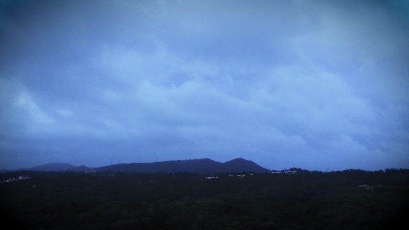 2020年8月9日 台風5号接近 沖縄恩納村 意外に何でもなかった